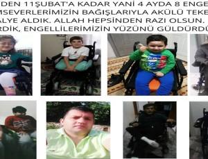 Akülü Tekerlekli Sandalye Bağışlarına Tam Destek